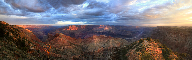 The Grand Canyon Panorama Sunrise From the South Rim Papier Peint