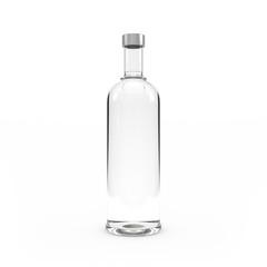 Vodka bottle isolated 3d rendering
