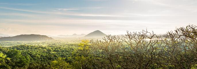 Scenic mountain valley landscape, Ceylon nature