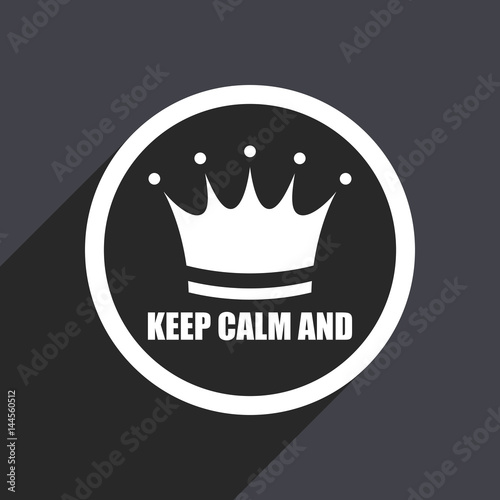 Keep Calm And Flat Design Vector Icon Stock Image And Royalty Free