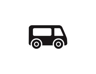 Flat bus travel icon