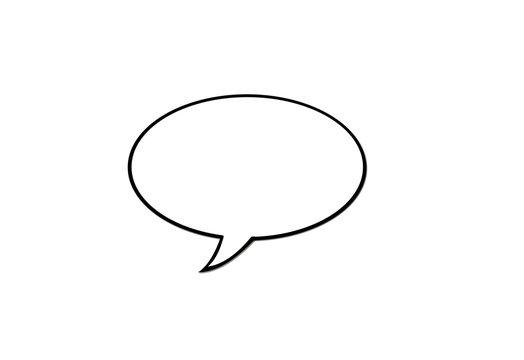 Sprechblase leer