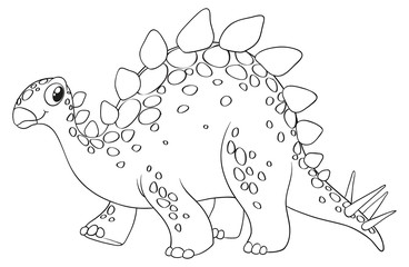 Animal outline for cute dinosaur