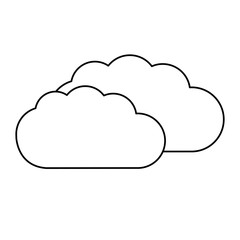 cloud weather line icon isolated