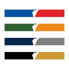 frame of eagle. template logo vector.