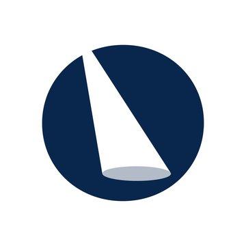 light logo vector. flash light symbol.