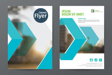Abstract  business  brochure flyer template, annual report or book cover layout in A4 size