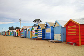 Colorful Beach Houses at Brighton Beach, Melbourne