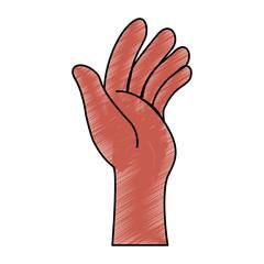 Human hand symbol icon vector illustration graphic design