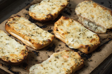 Homemade cheesy bread