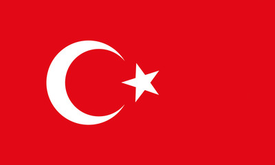 vector of turkey flag