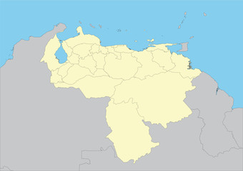 vector map of Venezuela