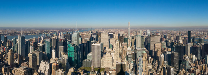 Sunny Panorama in New York City