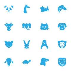 Set Of 16 Alive Icons Set.Collection Of Bishop, Bunny, King And Other Elements.