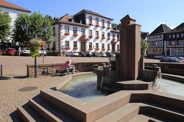 Gelnhausen, Obermarkt, Hesse, Germany, Europe