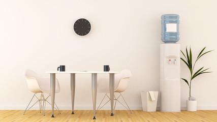 Meeting area or pantry in office-3D Rendering