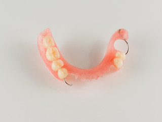 acrylic denture with metal clasps