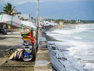 Baler area on Luzon, Philippines