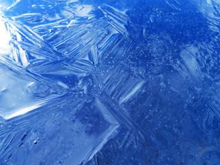blue ice texture.