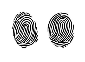 Thumb print fingerprint vector illustration