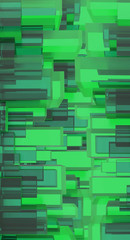 Green digital background. 3D illustration.