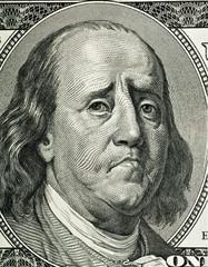 Franklin's cartoon portrait
