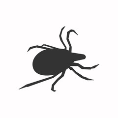 The mite icon. The illustration shows a dangerous mite.