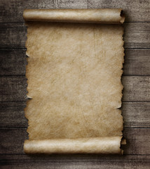 parchment on wall