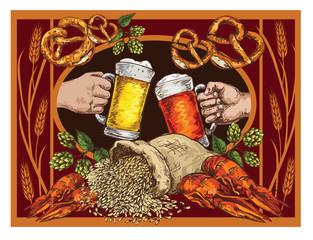 Beer vector poster.