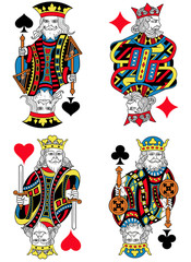 Four Kings French Inspiration Without Cards