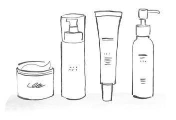 化粧品のイラスト ラフ