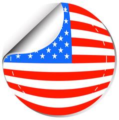 America flag in sticker design