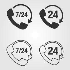Phone 7/24 icon