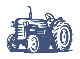 vector blue Tractor