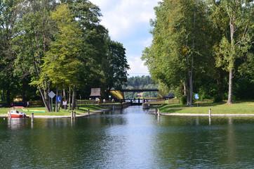 Śluza za Kanale Augustowskim/Sluice on Augustowski Canal, Podlasie, Poland