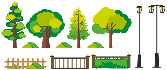 Trees and fence designs