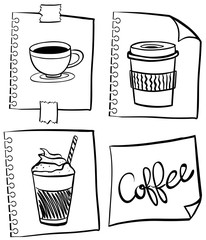 Coffee in different containers