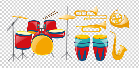 Different types of band instruments