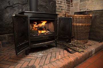 Rustic Wood Burning Stove