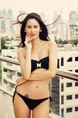 Beautiful girl in swimsuit