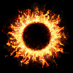 Fire Ring In The Dark