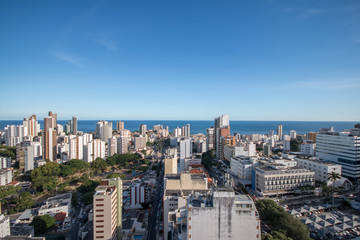 Aerial view of buildings in the city of Salvador Bahia Brazil