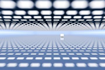 design element. 3D illustration. rendering. empty big warehouse