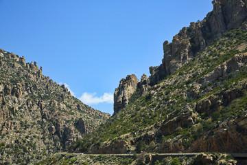 Catalina Highway up scenic Mount Lemmon in Arizona