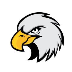 elegant eagle bird head cartoon