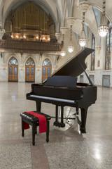 Grand piano in German gothic church