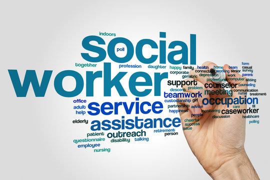 Social worker word cloud