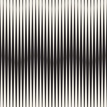 Wavy stripes vector seamless pattern. Retro wavy engraving texture. Geometric zigzag lines design...