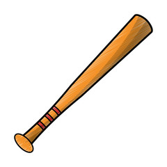 drawing bat baseball equipment vector illustration eps 10