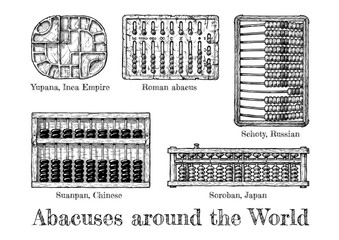 illustration of different  abacus